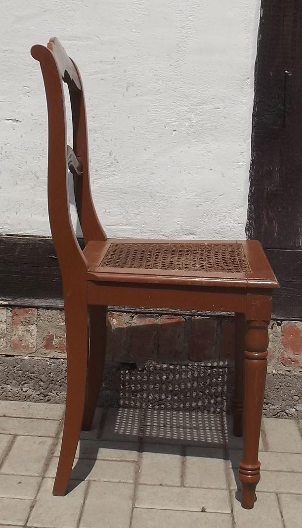 STUHL spätes BIEDERMEIER um 1860 Sitzfläche geflochten