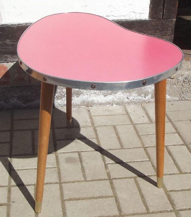 nierentisch lila beistelltisch blumentisch um 1955. Black Bedroom Furniture Sets. Home Design Ideas