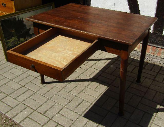 jugendstil tisch mit langer schublade esstisch k chentisch beistelltisch um1900 ebay. Black Bedroom Furniture Sets. Home Design Ideas