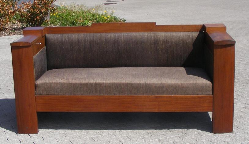 bauhaus sofa couch mit bar art deco um 1930 ebay. Black Bedroom Furniture Sets. Home Design Ideas