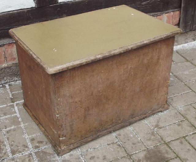 kohlenkiste f r k chenherd kiste truhe um 1925 ebay. Black Bedroom Furniture Sets. Home Design Ideas