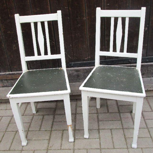 2x KÜCHENSTUHL Jugendstil Küchenstühle SHABBY CHIC um 1910 Stühle ...