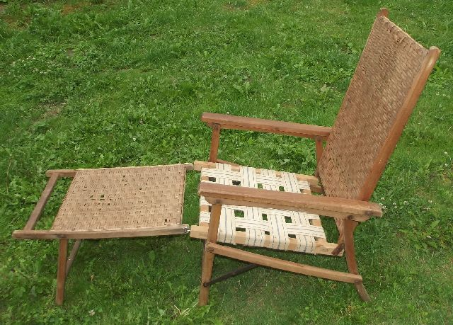 antiker liegestuhl flechtwerk gartenstuhl um 1925 2 ebay. Black Bedroom Furniture Sets. Home Design Ideas